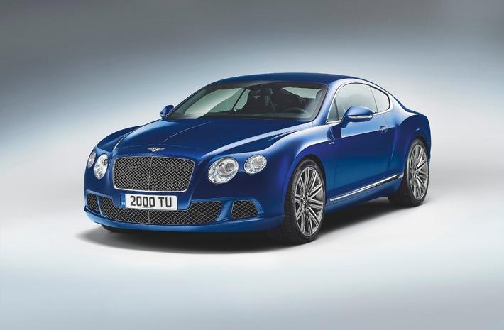 Bentley stellt schnellstes Serienmodell aller Zeiten vor - Den neuen CONTINENTAL GT SPEED