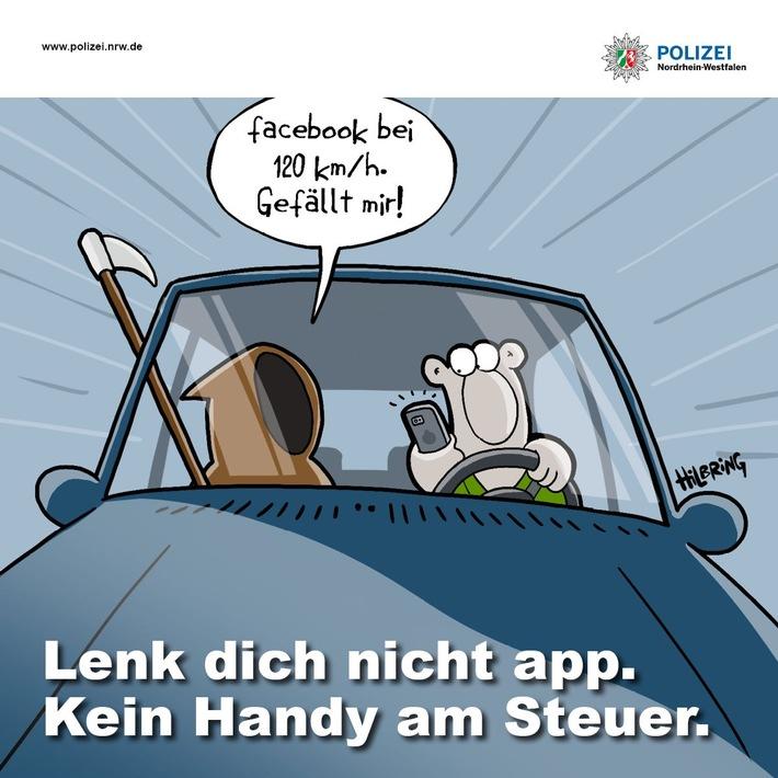 POL-BOR: Gescher/Stadtlohn - Lenk` dich nicht app! Verkehrskontrollen der Polizei