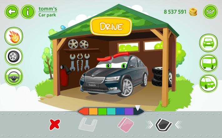 SKODA LittleDriver App: cooles Cruisen für Kids auf Tablet
