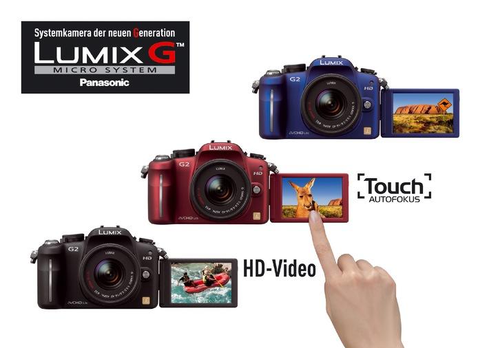 LUMIX DMC-G2 - Die erste Systemkamera für Foto und HD-Video mit Touch-Autofokus* (mit Bild)