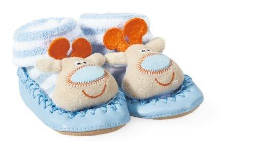Migros rappelle les pantoufles pour bébé décorées d'une tête d'élan brodée