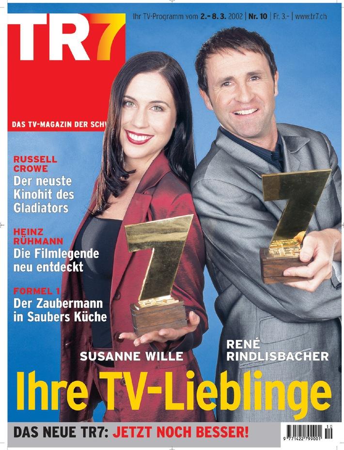 SPERRFRIST: Susanne Wille und René Rindlisbacher sind die TV-Stars des Jahres 2001
