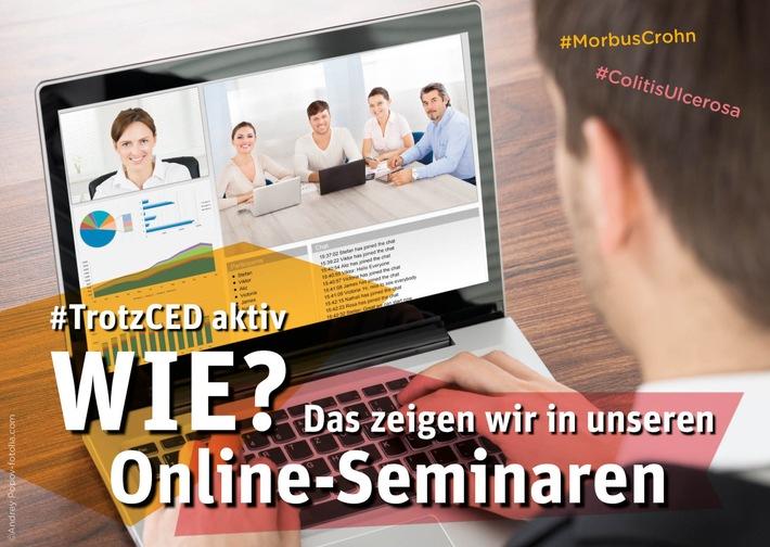 Morbus Crohn und Colitis ulcerosa: Live-Online-Seminare informieren Betroffene