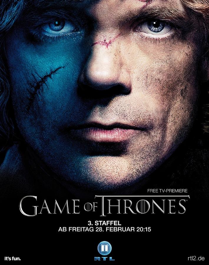 """Achtung: Geänderter Starttermin / RTL II zeigt die dritte Staffel von """"Game Of Thrones - Das Lied von Eis und Feuer"""" ab Freitag, den 28. Februar um 20:15 Uhr"""