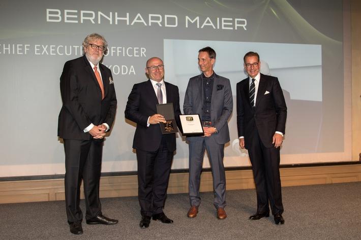 SKODA AUTO Vorstandsvorsitzender Bernhard Maier ist Brand Manager des Jahres 2017