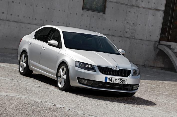 SKODA Octavia 2,0 TDI Green tec zum 'Firmenauto des Jahres 2013' gekürt
