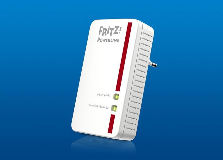FRITZ!Powerline 540E est en vente dès à présent / Le FRITZ!Powerline 540E combine réseau sans fil et CPL pour créer un réseau domestique robuste