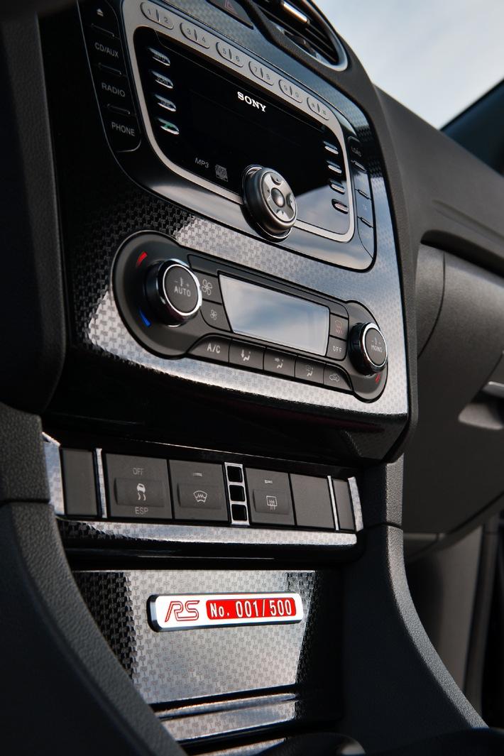 Ford Focus RS 500: Stärkster Focus aller Zeiten mit Editions-Zertifikat (mit Bild)