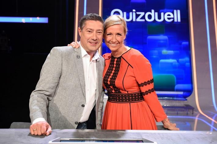 """Das Erste: Andrea Kiewel und Joachim Llambi beim """"Quizduell-Olymp"""" am Freitag, 24. Juni 2016, 18:50 Uhr im Ersten"""