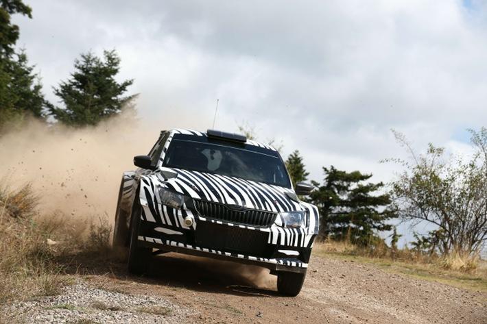 SKODA Fabia R 5: Entwicklung des neuen Rallye-Fahrzeugs läuft nach Plan