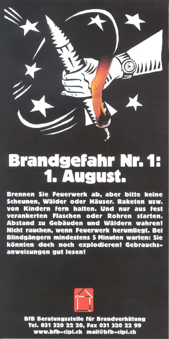 1. August: Feuerwerk - aber ohne Feuerwehr!