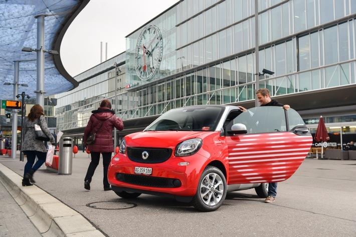 Mobility: 120 neue Smarts an SBB-Bahnhöfen