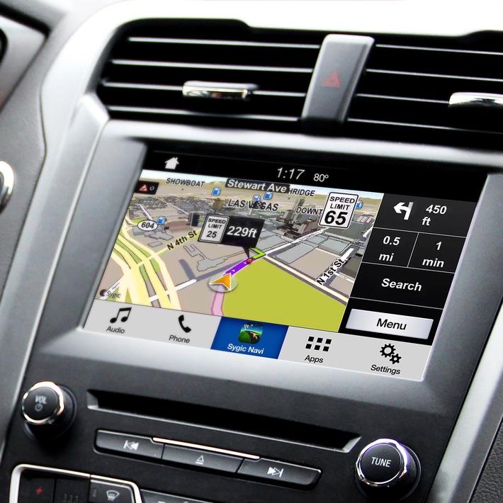 Das Smartphone als Navigationsgerät: Ford SYNC mit AppLink sorgt für kinderleichte Konnektivität