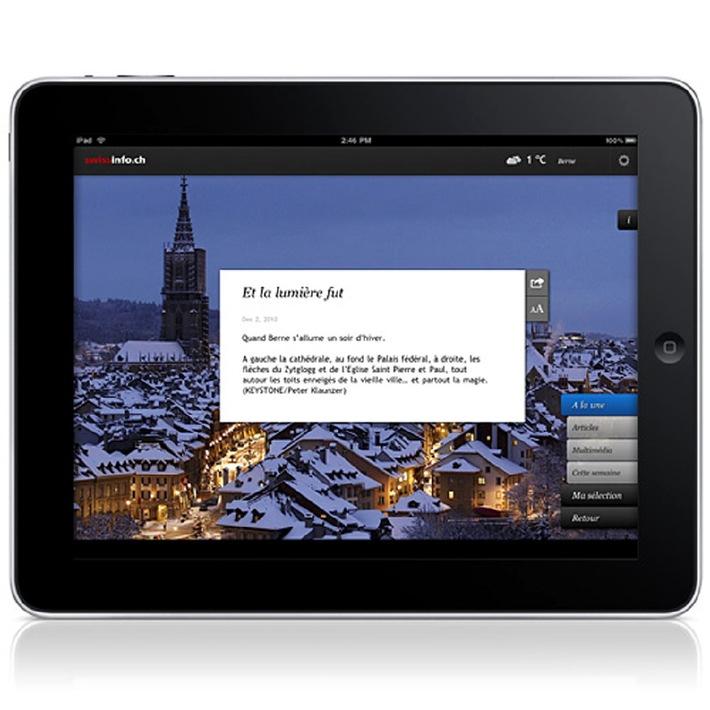 swissinfo.ch lance l'application iPad en 9 langues