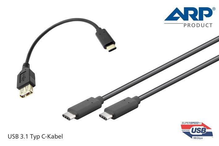 ARP erweitert Kabelsortiment mit neuen USB 3.1 Typ C-Kabeln