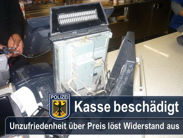 Die Unzufriedenheit über den Preis in einem Schnellrestaurant im Münchner Hauptbahnhof führt zu Streit und Widerstand.