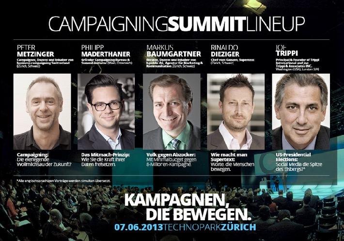 """""""Wirksame Kampagnen, die bewegen"""" beim Campaigning Summit Zurich 2013 (Bild/Dokument)"""