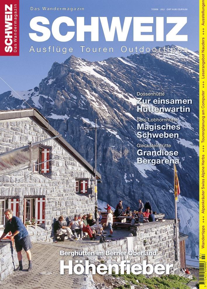 Wandermagazin SCHWEIZ 7/2009: Der achte Kontinent liegt im Berner Oberland