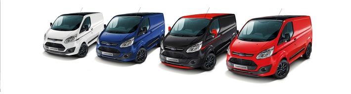 """Dynamische Allrounder: Ford Transit Custom """"Black Edition"""" und Tourneo Custom Sport ab sofort erhältlich"""