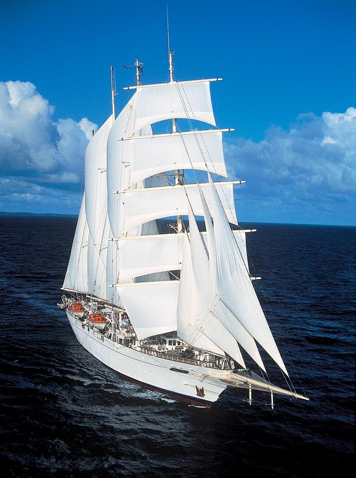 Kreuzfahrt: Weltgrößter Anbieter von Segel-Kreuzfahrten setzt erstmals ab Indonesien die Segel / Mehr als 20 Segeltörns ab Bali und Singapur / Viermaster setzt auf deutsche Urlauber