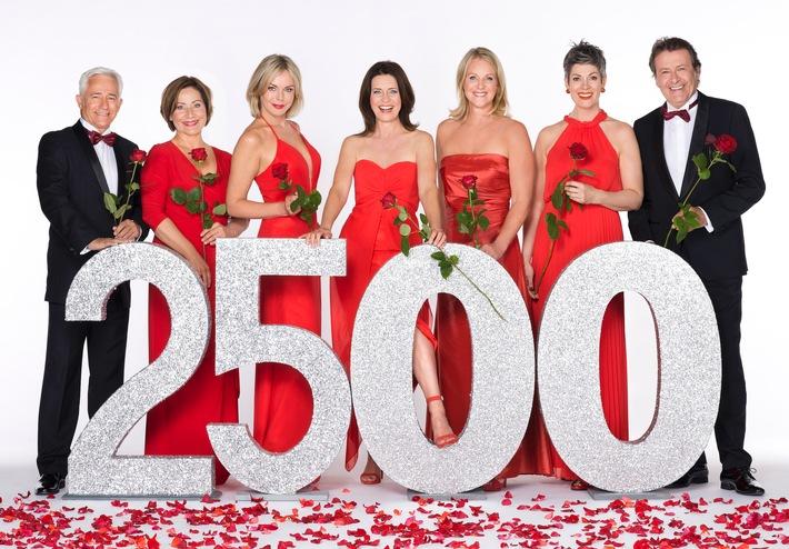 """Das Erste: 2500 """"Rote Rosen"""" für die Zuschauer: Verlängerung um zwei Staffeln sichert Ausstrahlung bis ins Jahr 2019"""