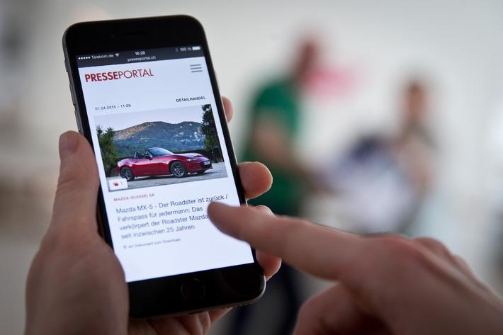 PR-Inhalte immer und überall: Neue Version von Presseportal.ch für Smartphones ist online