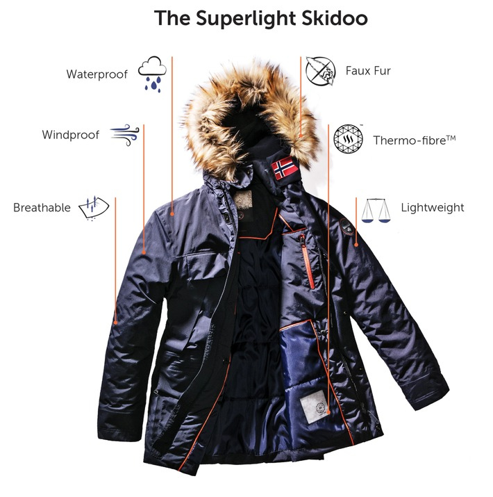 Napapijri FW17 merges innovation and animal welfare / The new collection featuring the innovative Superlight Skidoo, is 100% down and fur free
