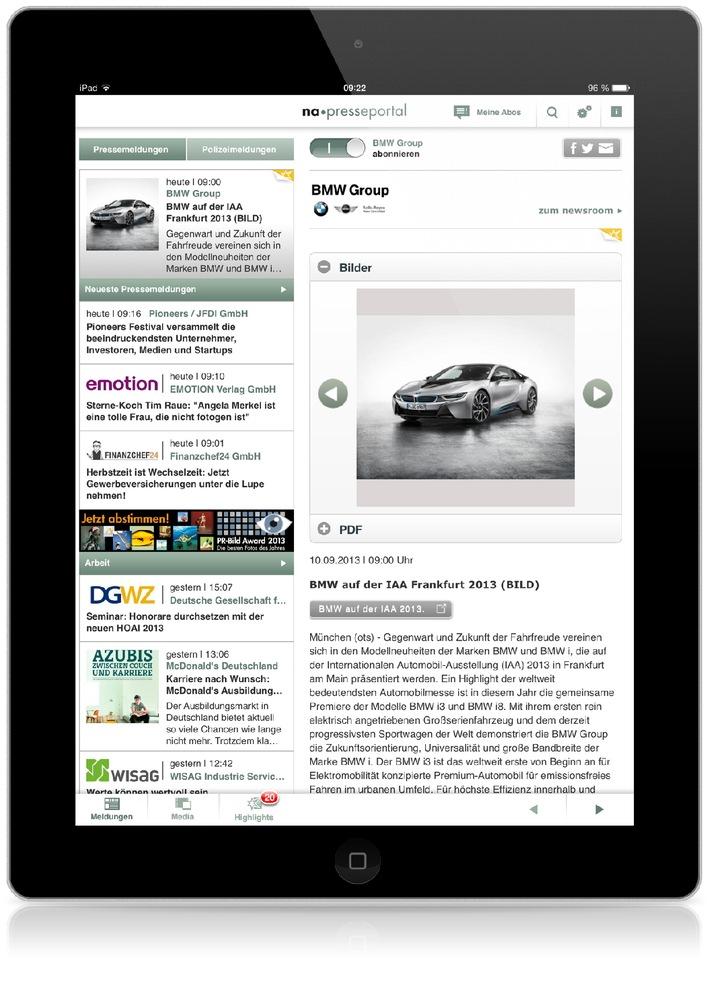 OTS auf dem iPad: Neue App der dpa-Tochter news aktuell