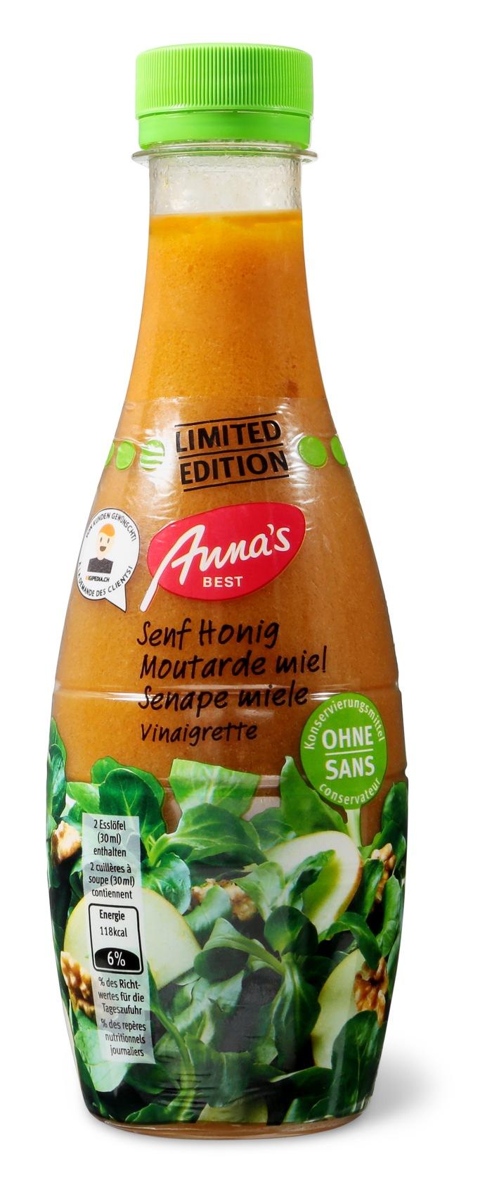 Die Migros ruft die Senf-Honig-Vinaigrette von Anna's Best zurück