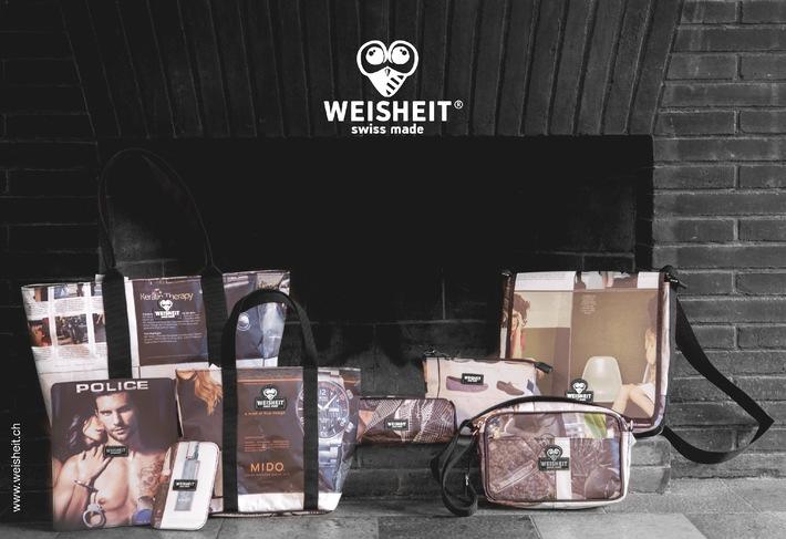Unter dem Label WEISHEIT produziert ein junges Team Accessoires und Taschen, die etwas anders sind als alles, was bisher auf dem Markt war - Swiss Made & Fairtrade