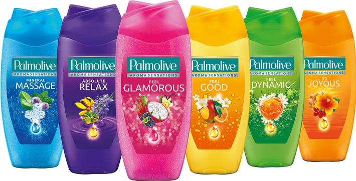Stimmung in der Dusche: Die neuen Palmolive Aroma Sensations Duschgels beleben die Sinne