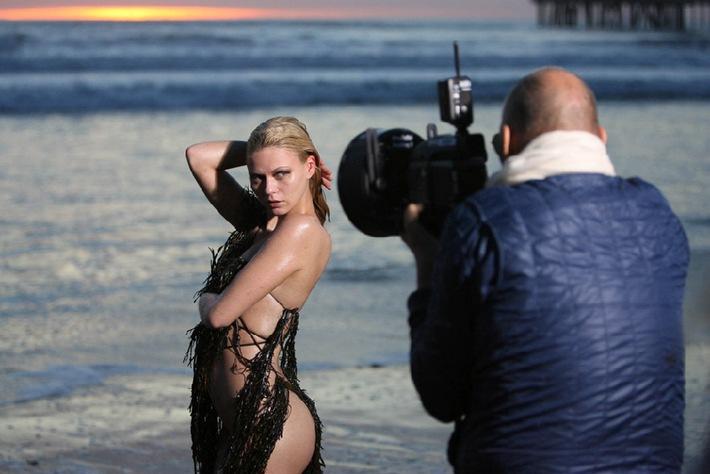 Sinnlich! Michel Comte fotografiert Heidi Klums Mädchen am Venice Beach