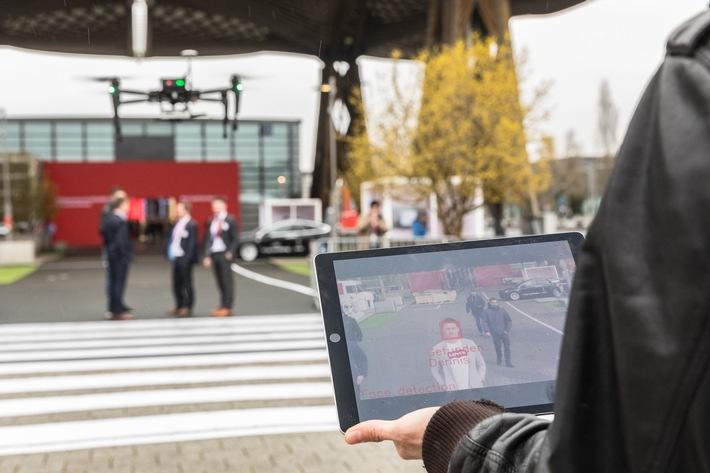 Vodafone: So könnten LTE-Drohnen für Sicherheit aus der Luft sorgen