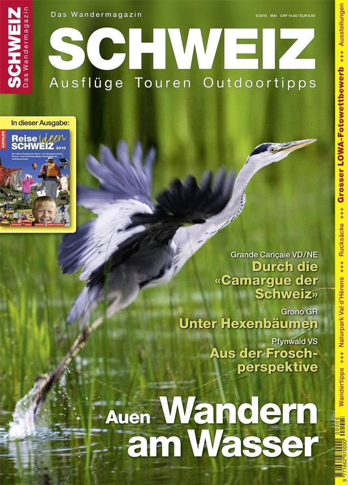 """""""Wandermagazin SCHWEIZ"""" 5/2010: Feuchtgebiete - Wandern am Wasser"""
