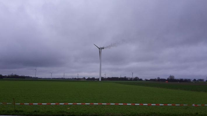 FW-KLE: Brand einer Windkraftanlage - Abschlußmeldung