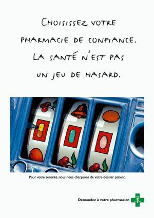 Pharmacie de confiance pour plus de sécurité et moins de frais: Campagne d'affichage du mois d'avril 2005