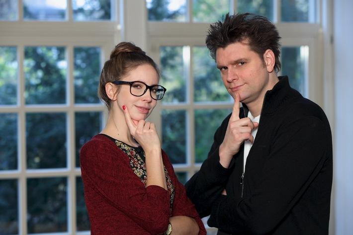 Genial, schlank, berühmt /  Wie man's wird, fragen Lutz van der Horst und Christiane Stenger in ZDFneo