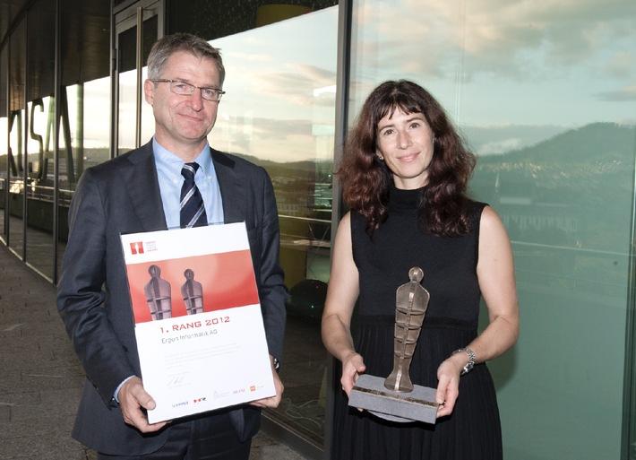 Ergon Informatik AG auf Rang 1 beim 12. Swiss Arbeitgeber Award