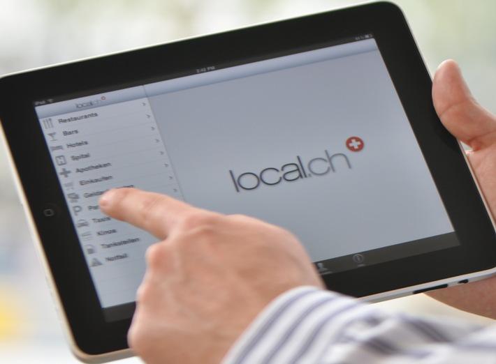 local.ch lanciert erste Telefonbuch Applikation fürs iPad
