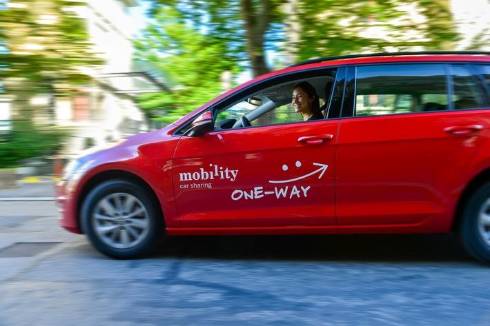 Einwegfahrten: Mobility vergrössert Standortnetz um Luzern und Basel