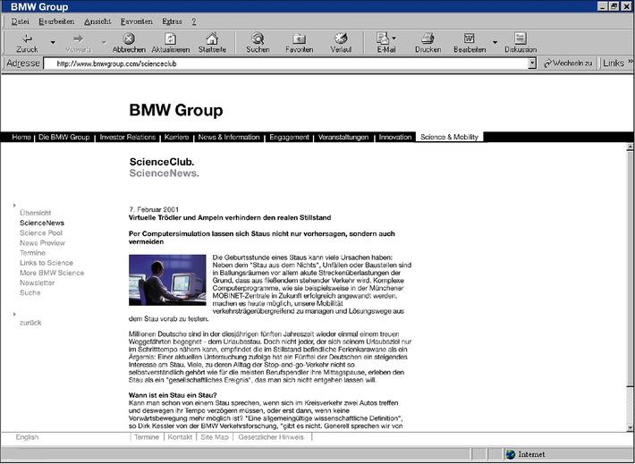 Freude am Surfen im ScienceClub der BMW Group