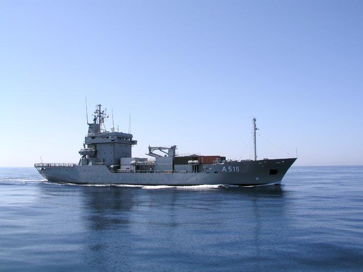 """Tender """"Main"""" bricht ins Mittelmeer auf"""