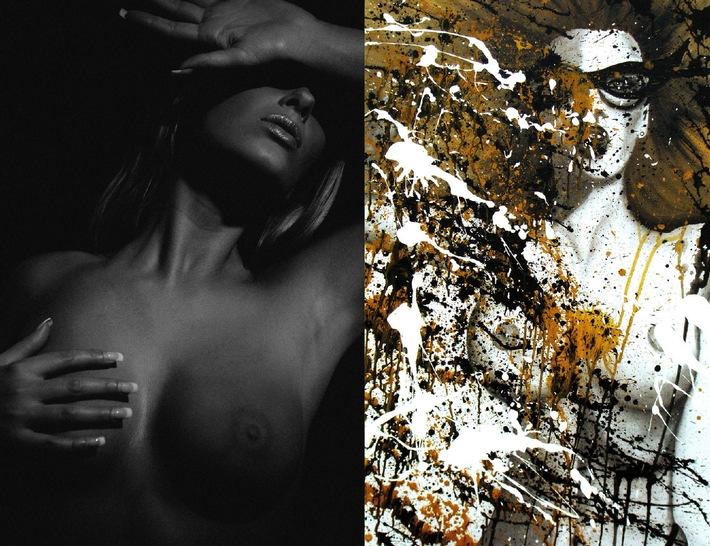 """Kunstausstellung Dolly Buster und Manfred Baumann in Wien - """"FINE NUDE ART"""" meets """"COLOR CRASH"""""""