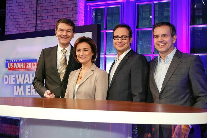 US-Wahl 2012 - Das Erste berichtet live mit Experten und prominenten Gästen aus Berlin