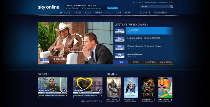 Sky Online - der neue Weg zu Sky: Der einfache und flexible Zugang zu vielen der besten und exklusivsten Inhalte von Sky