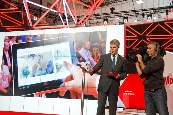 Vodafone macht den Zuschauer mit LTE Broadcast zum Regisseur
