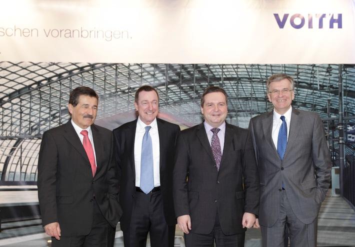 Ministerpräsident Mappus weiht neues Voith-Getriebewerk ein: Modernste Fertigung von Hightech-Zugkomponenten läuft mit neuem Großauftrag aus China an