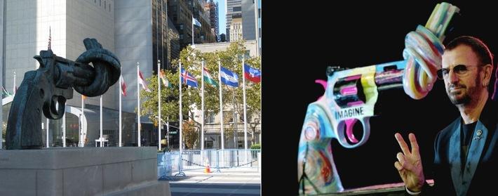 Promi-Kunst zum Tag der Gewaltlosigkeit