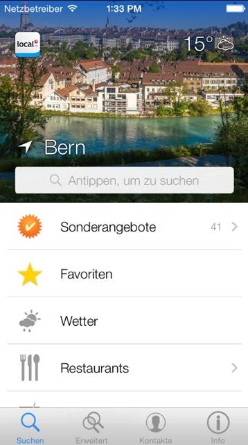 local.ch-App: Update bringt neues Sucherlebnis