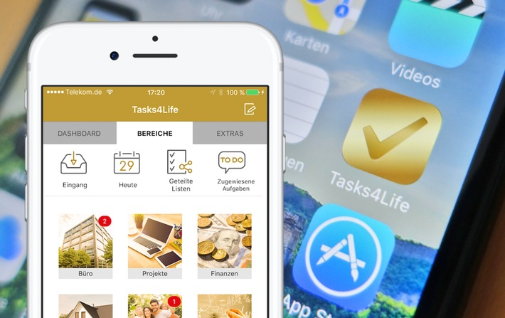 Tasks4Life - iPhone Aufgabenmanager mit umfangreichen Team-Funktionen